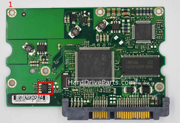 pcb disque dur seagate 100387575