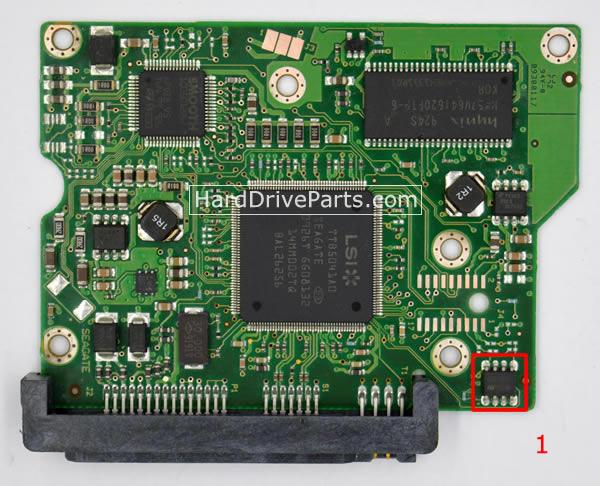 ST3250310AS Seagate PCB Controleur Disque Dur 100468303