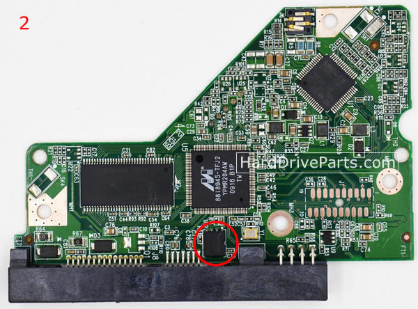WD10EVDS Western Digital PCB Controleur Disque Dur 2060-701640-001