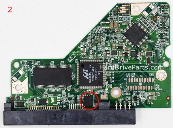 pcb disque dur western digital 2060-701640-001