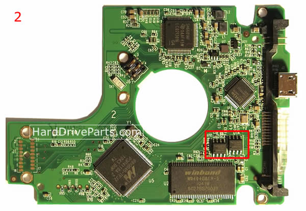 WD5000KMVV Western Digital PCB Controleur Disque Dur 2060-701675-004