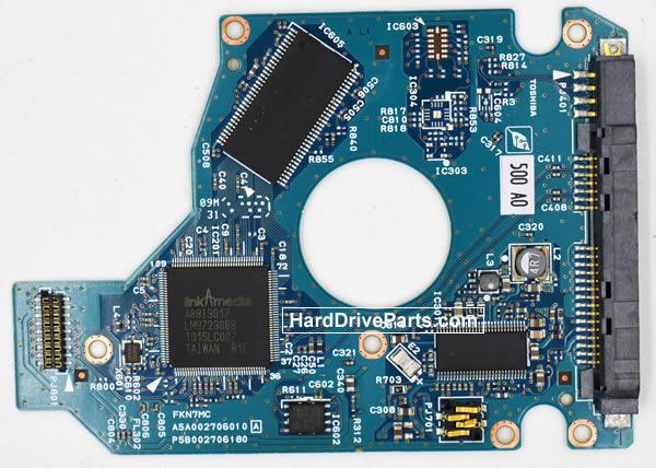 Toshiba MK5076GSXN Carte Electronique Disque Dur G002706A