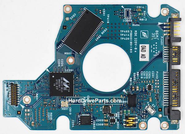 Toshiba MK1237GSX Carte Electronique Disque Dur G5B001851000-A