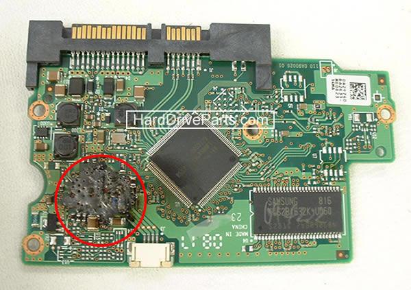 carte controleur disque dur endommagé